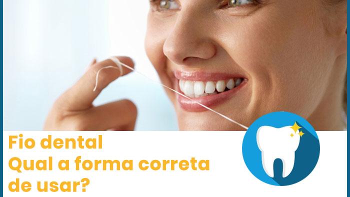Fio dental, qual a forma correta de usar?